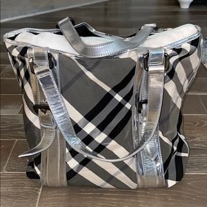 Authentic Burberry Beat Check Lowry Bag